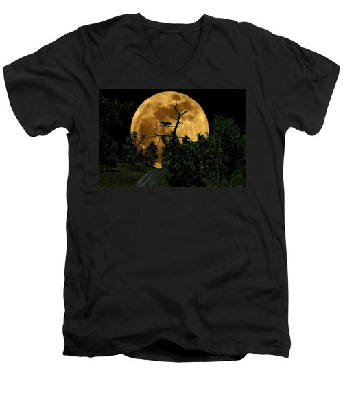 Spooky Road Men's V-Neck T-Shirt