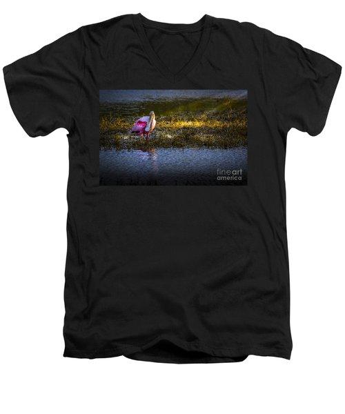 Spotlight Men's V-Neck T-Shirt by Marvin Spates