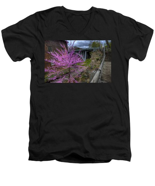 Spring At The Mill Men's V-Neck T-Shirt