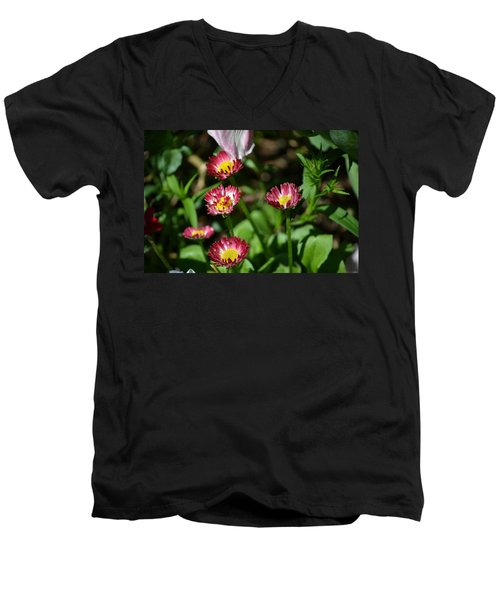 Men's V-Neck T-Shirt featuring the photograph Spring Blooms by Tara Potts