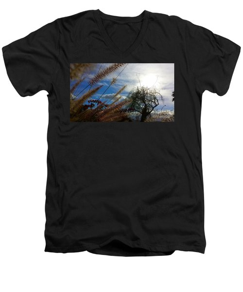 Men's V-Neck T-Shirt featuring the photograph Spring In The Air by Chris Tarpening