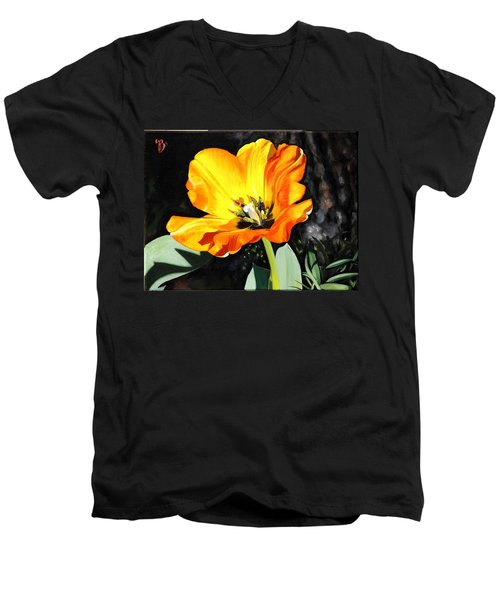 Spring Tulip Men's V-Neck T-Shirt