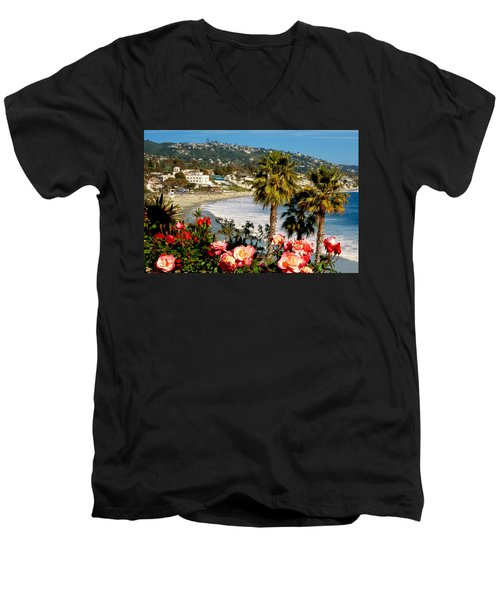 Springtime In Laguna Men's V-Neck T-Shirt