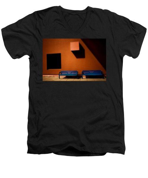 Square Shadows Men's V-Neck T-Shirt