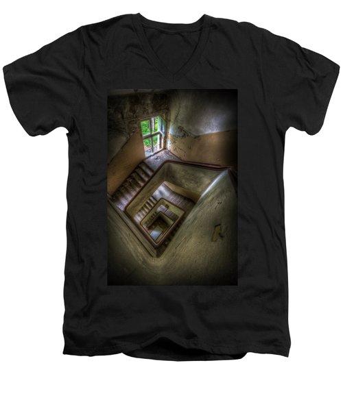 Squares Going Down Men's V-Neck T-Shirt