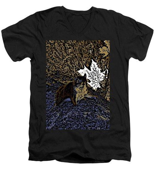 Squirrel Men's V-Neck T-Shirt by Jason Lees