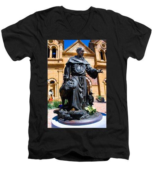 St Francis Of Assisi - Santa Fe Men's V-Neck T-Shirt