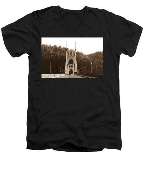St. John's Bridge Men's V-Neck T-Shirt