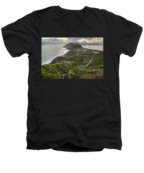 St Kitts Overlook Men's V-Neck T-Shirt