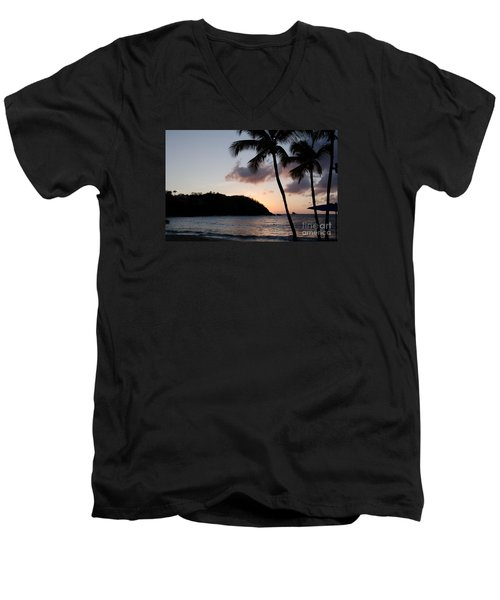 St. Lucian Sunset Men's V-Neck T-Shirt