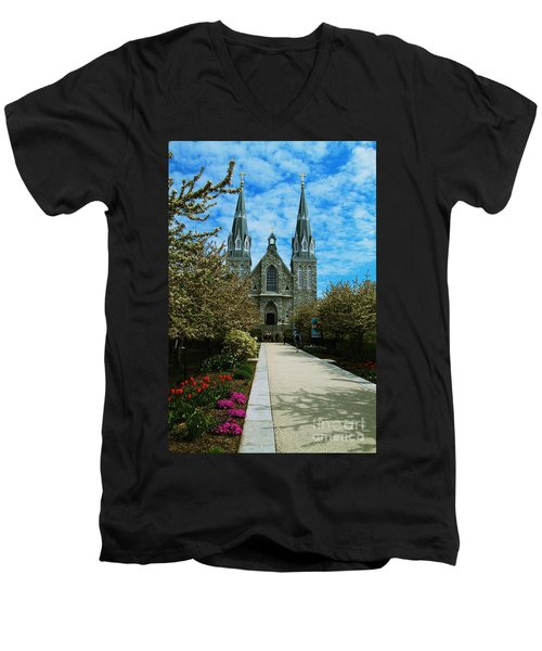 St Thomas Of Villanova Men's V-Neck T-Shirt by William Norton