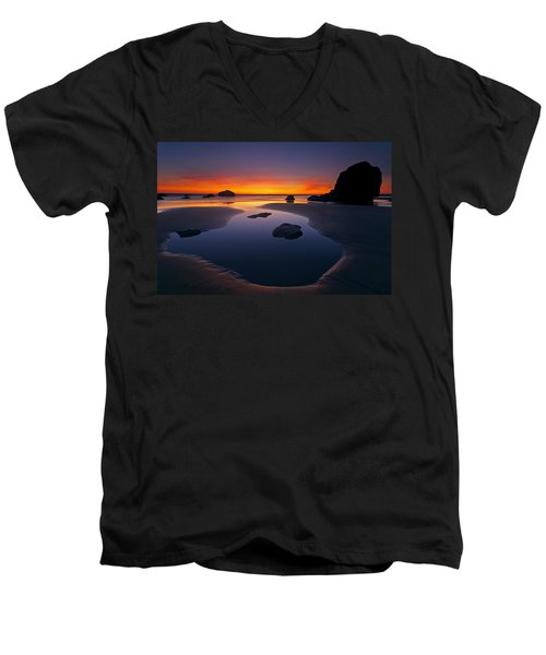Stacks And Stones Men's V-Neck T-Shirt by Mike  Dawson