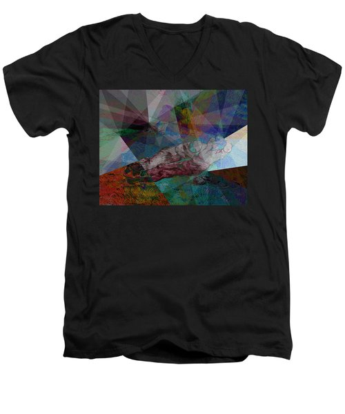 Stain Glass I Men's V-Neck T-Shirt by David Bridburg