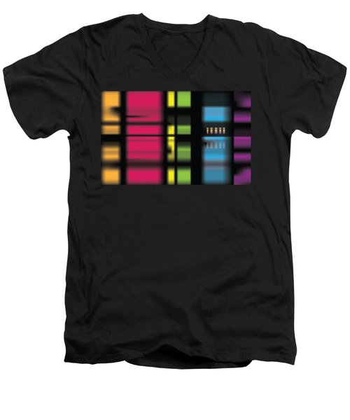 Stainbow Men's V-Neck T-Shirt by Kevin McLaughlin