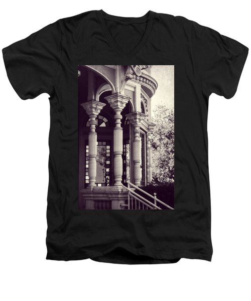 Men's V-Neck T-Shirt featuring the photograph Stained Glass Memories by Melanie Lankford Photography