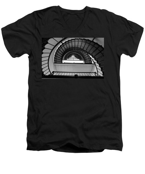 Men's V-Neck T-Shirt featuring the photograph Stairs by Andrea Anderegg
