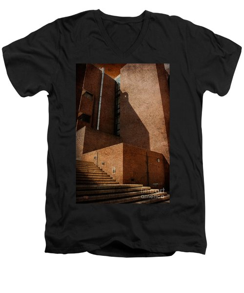 Men's V-Neck T-Shirt featuring the photograph Stairway To Nowhere by Lois Bryan