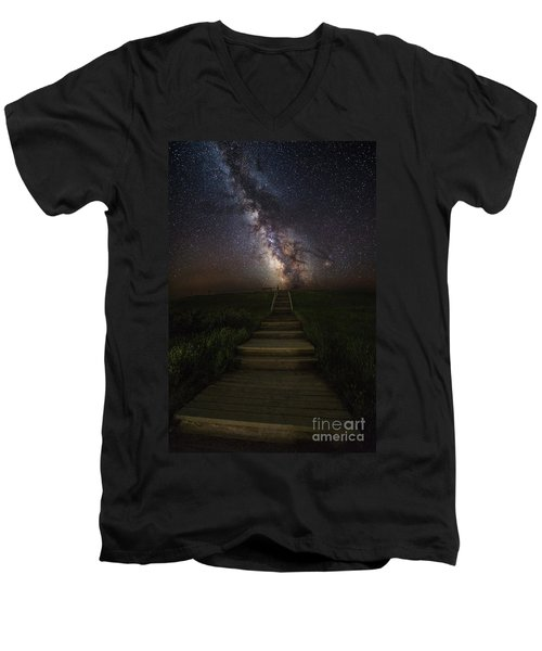 Stairway To The Galaxy Men's V-Neck T-Shirt