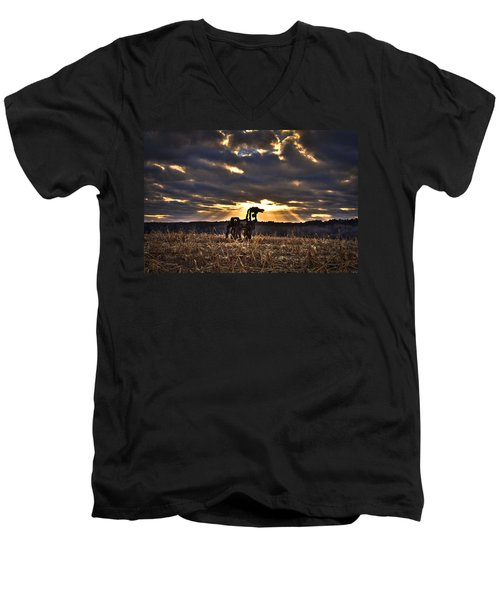 Stairways To Heaven The Iron Horse Men's V-Neck T-Shirt