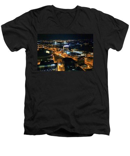Stan Musial Bridge In St Louis Mo Dsc03215 Men's V-Neck T-Shirt by Greg Kluempers