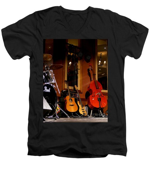 Men's V-Neck T-Shirt featuring the photograph Stand By by Nina Ficur Feenan