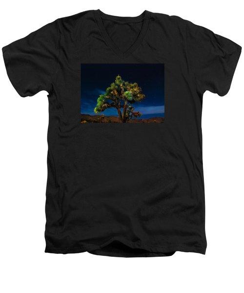 Standing Men's V-Neck T-Shirt by Angela J Wright