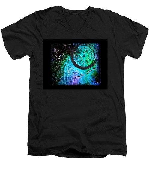 Star Child - Time To Go Home Men's V-Neck T-Shirt