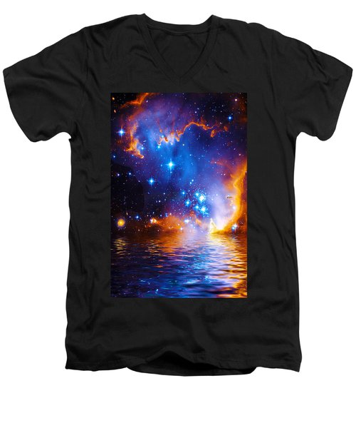 Stars As Diamonds Men's V-Neck T-Shirt by Chuck Mountain