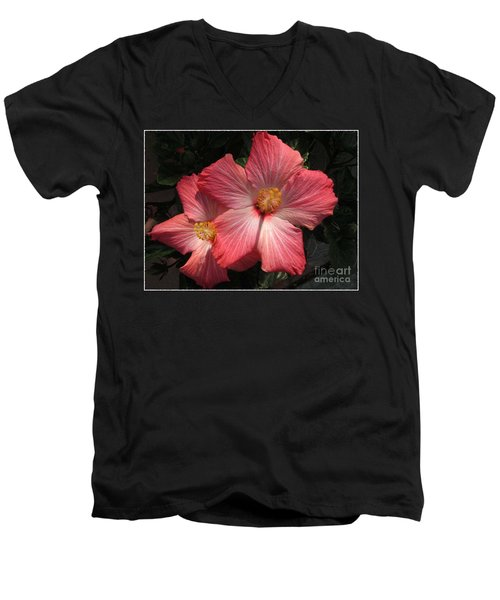 Men's V-Neck T-Shirt featuring the photograph Star Flower by Barbara Griffin