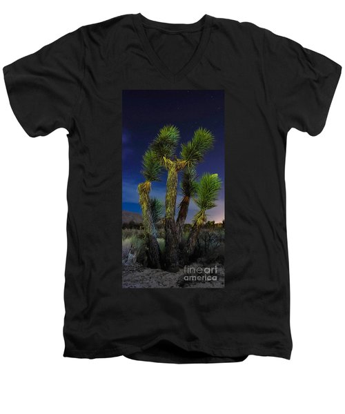 Men's V-Neck T-Shirt featuring the photograph Star Gazing by Angela J Wright
