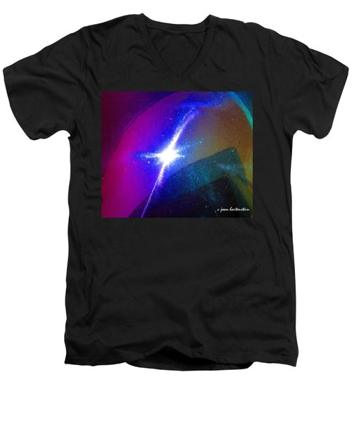 Men's V-Neck T-Shirt featuring the photograph Star by Joan Hartenstein