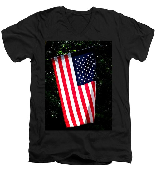 Men's V-Neck T-Shirt featuring the photograph Star Spangled Banner by Greg Simmons