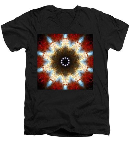Starburst Galaxy M82 I Men's V-Neck T-Shirt