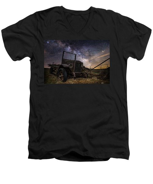 Stardust And  Rust Men's V-Neck T-Shirt