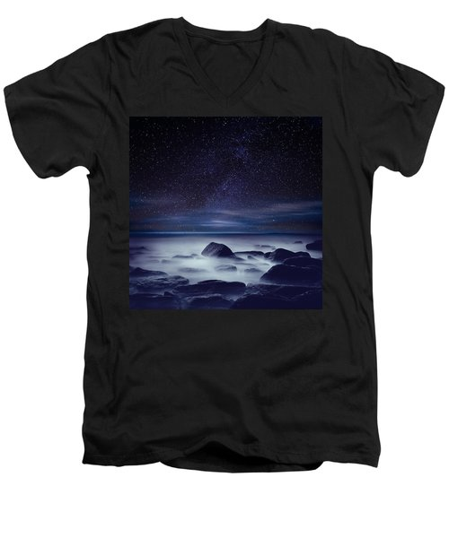 Starry Night Men's V-Neck T-Shirt by Jorge Maia