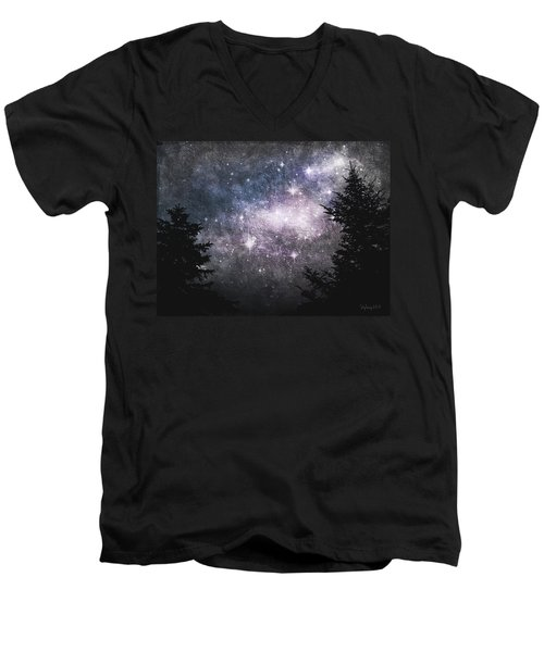 Men's V-Neck T-Shirt featuring the photograph Starry Starry Night by Cynthia Lassiter