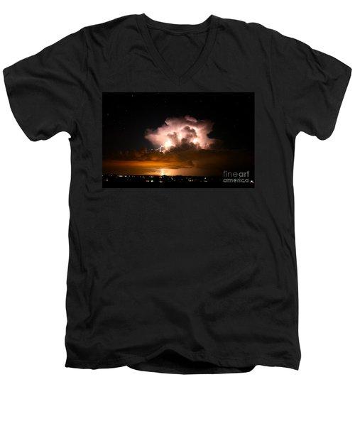 Starry Thundercloud Men's V-Neck T-Shirt