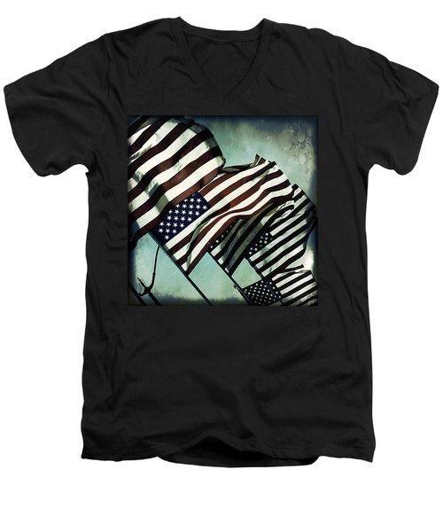 Stars N  Stripes Men's V-Neck T-Shirt
