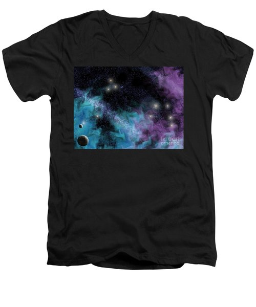 Starscape Nebula Men's V-Neck T-Shirt
