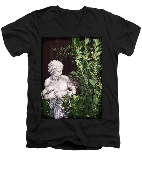 Men's V-Neck T-Shirt featuring the photograph Statue 1 by Pamela Cooper