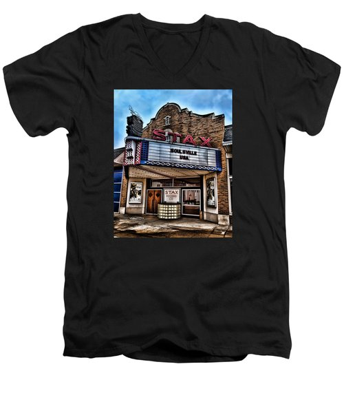 Stax Records Men's V-Neck T-Shirt by Stephen Stookey