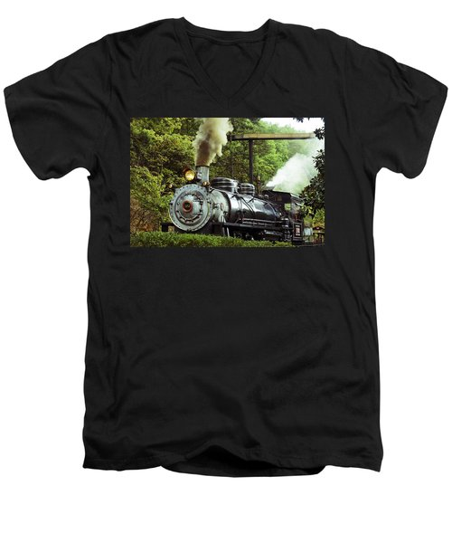 Steam Engine Men's V-Neck T-Shirt by Laurie Perry