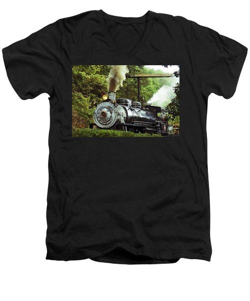 Steam Engine Men's V-Neck T-Shirt