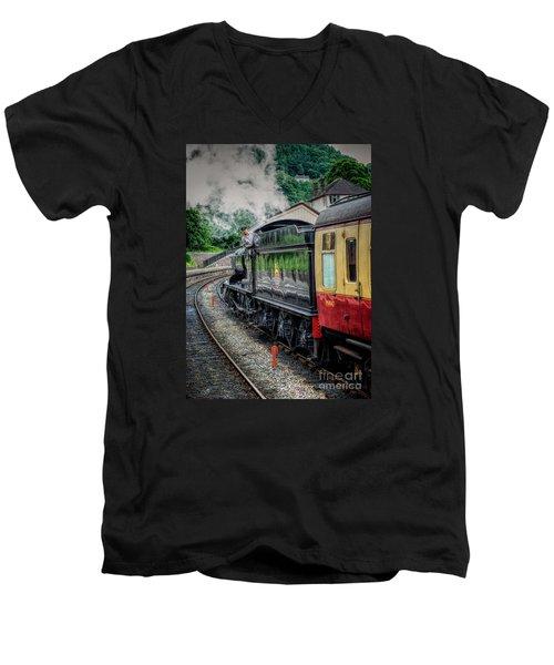 Steam Train 3802 Men's V-Neck T-Shirt