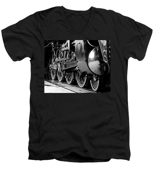 Steamer Up 844 Wheels Men's V-Neck T-Shirt by Bartz Johnson