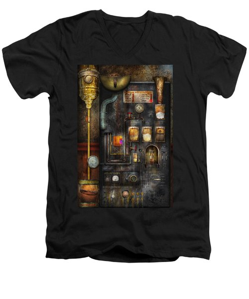 Steampunk - All That For A Cup Of Coffee Men's V-Neck T-Shirt