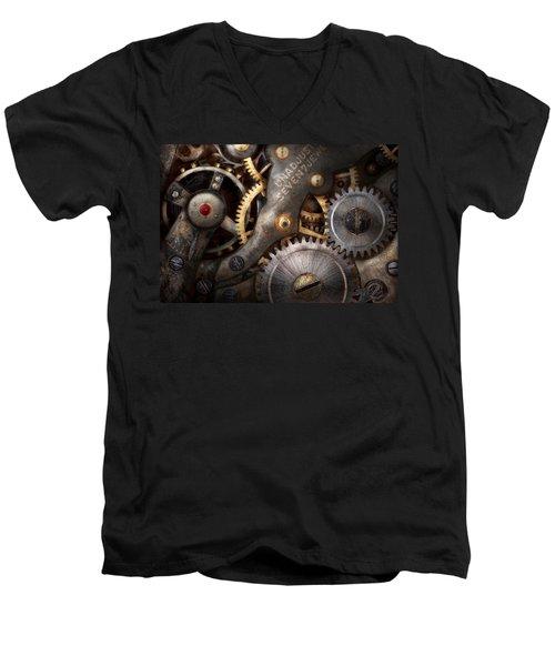 Steampunk - Gears - Horology Men's V-Neck T-Shirt