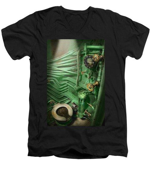 Steampunk - Naval - Plumbing - The Head Men's V-Neck T-Shirt