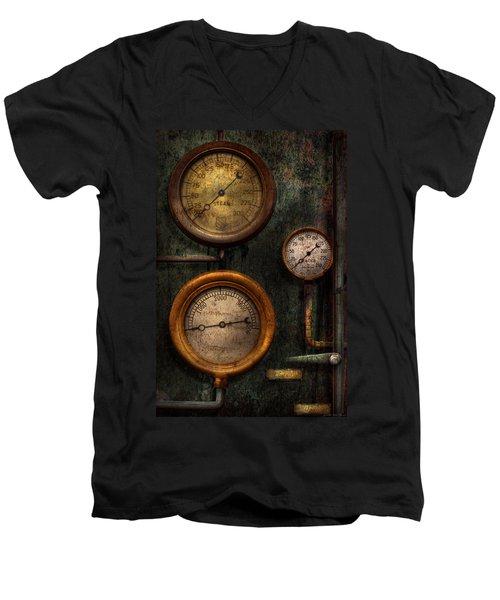 Steampunk - Plumbing - Gauging Success Men's V-Neck T-Shirt