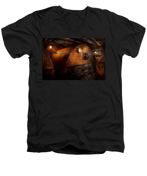 Steampunk - Plumbing - The Home Of A Stoker  Men's V-Neck T-Shirt